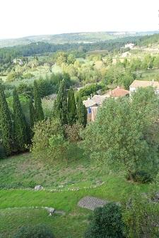 vue de la chambre d'hôtes Le Roc sur l'Orbieu entre Carcassonne et Narbonne