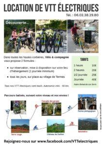 vélo et compagnie, louez votre vélo électrique à Termes