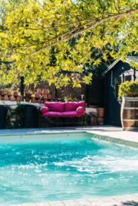 détails piscine privée gîte le cfour à pain au Roc sur l'Orbieu entre Carcassonne et Narbonne