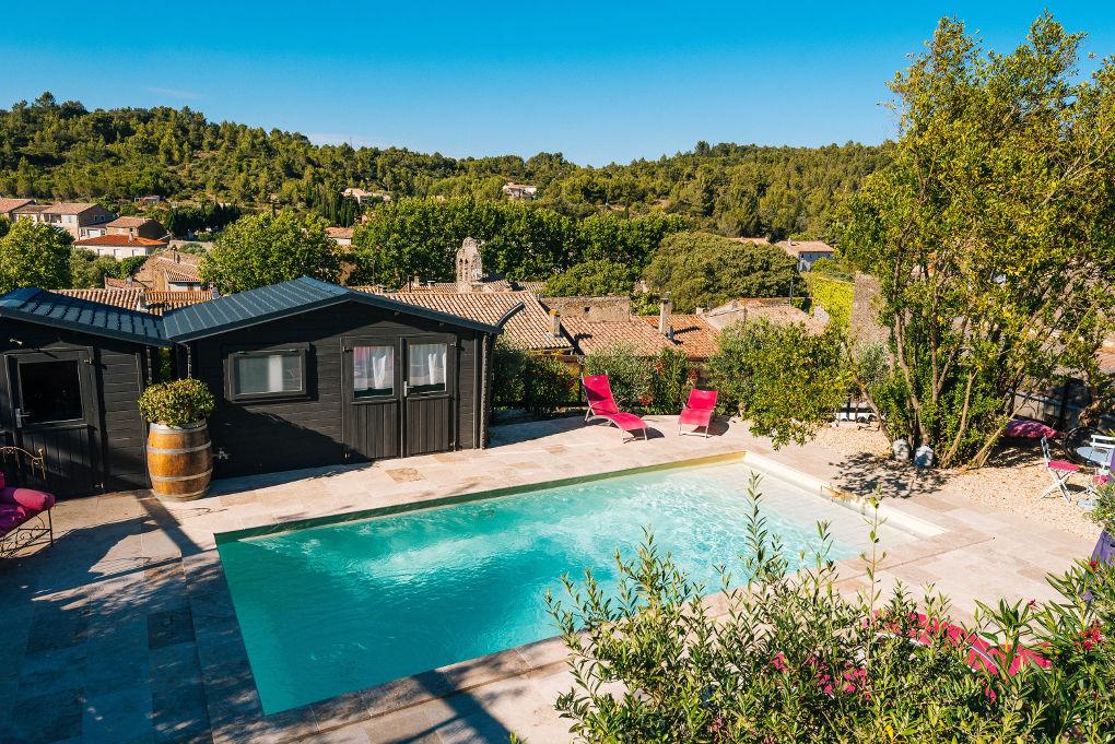 picine - maison le four à pain - le roc sur l'orbieu-location de vacances entre Carcassonne et Narbonne