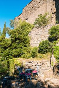 remparts du château gîtes au Roc sur l'Orbieu entre Carcassonne et Narbonne